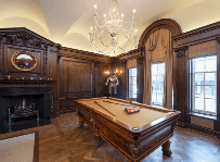 Wood Panelling Billiard Room